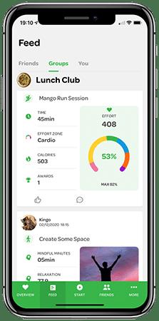 run session in revoola fitness app